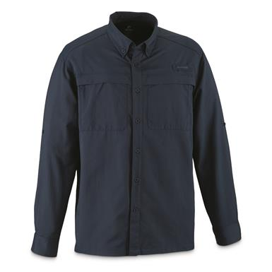Guide Gear Men's Traverse Long Sleeve Shirt, Indigo Blue