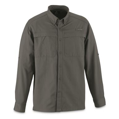 Guide Gear Men's Traverse Long Sleeve Shirt, Gray