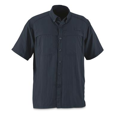 Guide Gear Men's Traverse Short Sleeve Shirt, Indigo Blue
