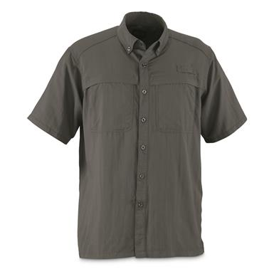 Guide Gear Men's Traverse Short Sleeve Shirt, Gray