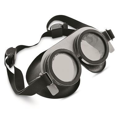 Belgian Military Surplus Rubber Goggles, New