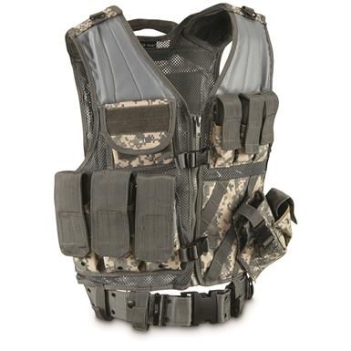 Mil-Tec Military Style Tactical Vest, ACU