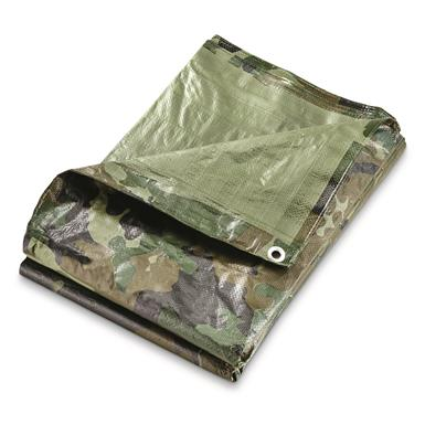 Italian Military Surplus 6'x24' Woodland Tarp, New