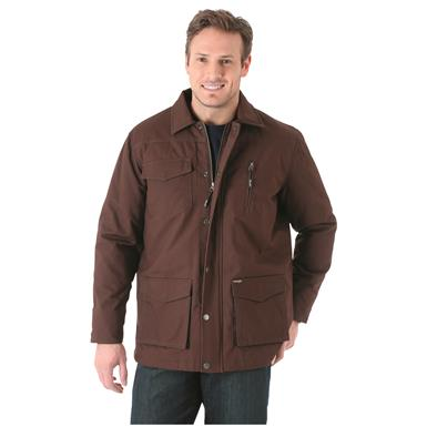 Wrangler Men's Barn Coat, Dark Brown