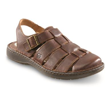 Born Men's Elbek Fisherman Sandals, Brown