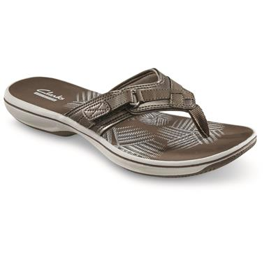 Clarks Women's Breeze Sea Sandals, Pewter