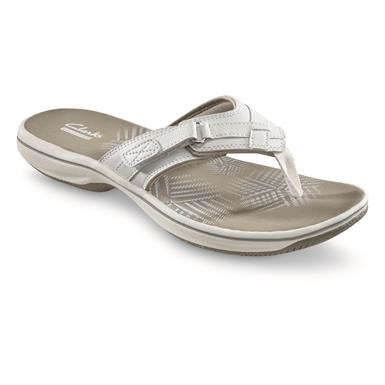 Clarks Women's Breeze Sea Sandals, White
