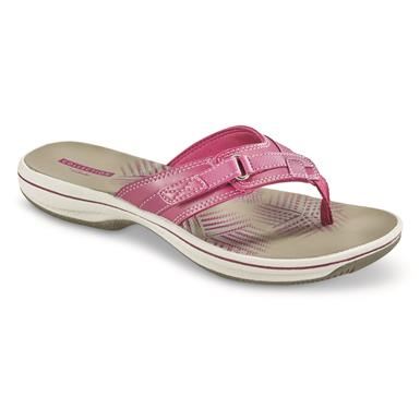 Clarks Women's Breeze Sea Sandals, Magenta