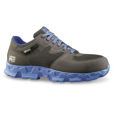 Timberland Men's Pro Powertrain Alloy Toe ESD Work Shoes, Black/Blue