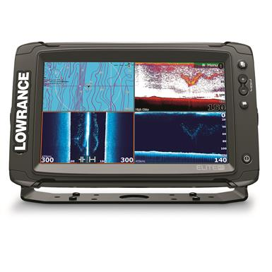 Lowrance ELITE-9 Ti Mid/High/DownScan Sonar Fish Finder