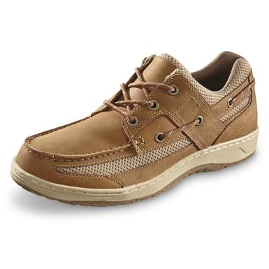 Guide Gear Men's Fisherman's 3 Eye Boat Shoes, Tan