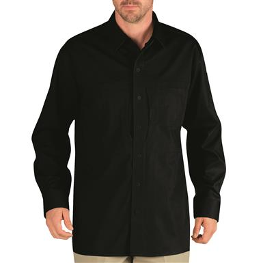 Dickies Men's Long Sleeve Tactical Shirt, Black