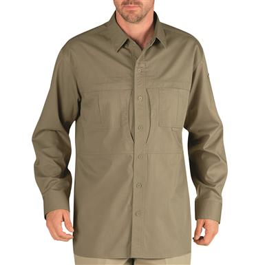 Dickies Men's Long Sleeve Tactical Shirt, Desert Sand