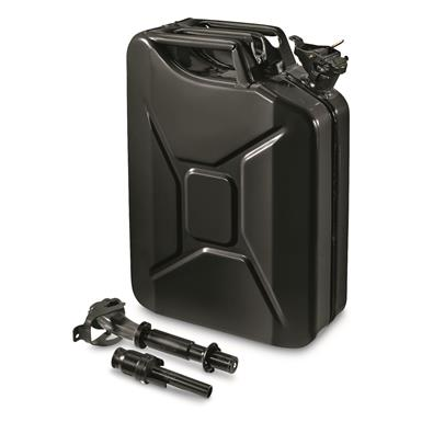 NATO Military Surplus 20L Jerry Can with Nozzle and Adapter, Black