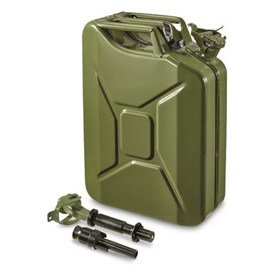 NATO Military Surplus 20L Jerry Can with Nozzle and Adapter, Olive Drab