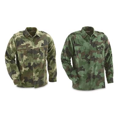 Serbian Military Surplus Field Shirts, 2 pack, Used