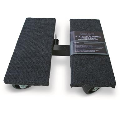 "Shop Tuff Adjustable Mover's Dolly, 12"" x 12""-18"" x 4.5"""
