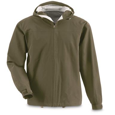 Guide Gear Men's 2.5 Rain Jacket, Olive