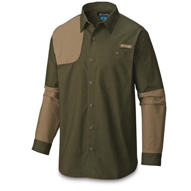 Columbia Men's Ptarmigan Briar Shooting Shirt, Surplus Green/Flax