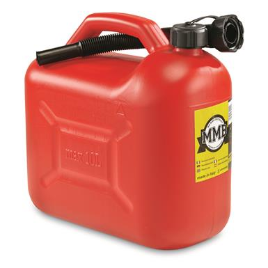 NATO Military Surplus Jerry Can, 10L (2.5 Gallons), New, Red