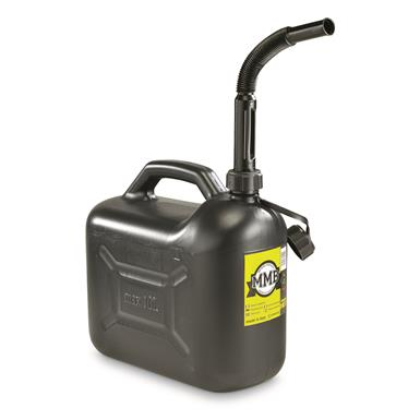 NATO Military Surplus Jerry Can, 10L (2.5 Gallons), New, Black
