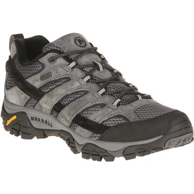 Merrell Men's Moab 2 Waterproof Hiking Shoes, Granite