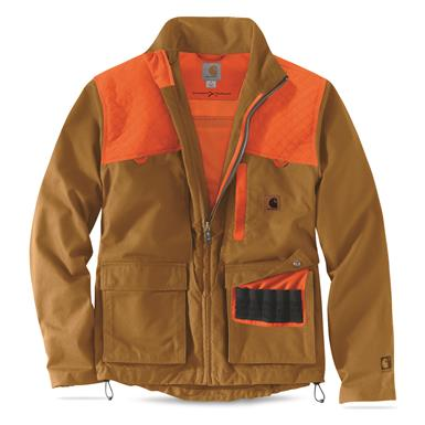 Front shell pockets hold 10 shells each, Carhartt® Brown