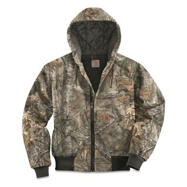 Carhartt Men's Quilted Flannel-Lined Active Jacket, Realtree