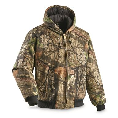 Carhartt Men's Quilted Flannel-Lined Active Jacket, Mossy Oak Break-Up® COUNTRY™