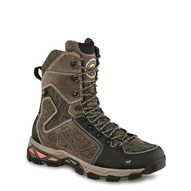 "Irish Setter Ravine 9"" Men's Waterproof Leather Hunting Boots, Gray/Black"