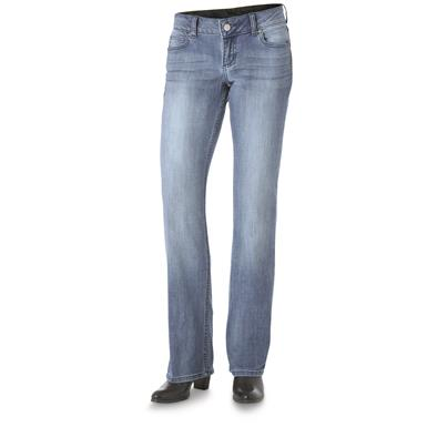 Wrangler Retro Women's Mae Jeans, Mid Rise, Medium Blue