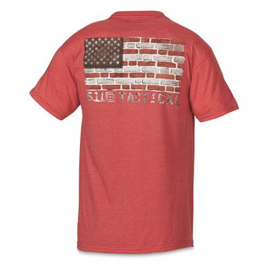 5.11 Tactical Men's Bricks and Mortar T-Shirt, Red Heather