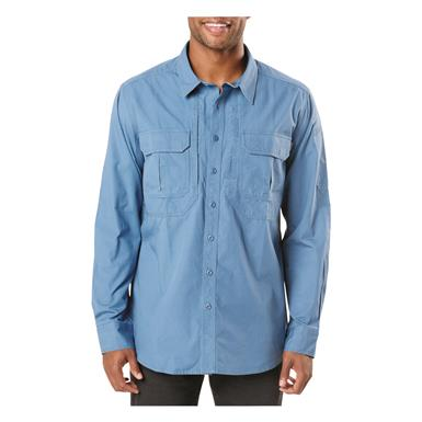 5.11 Tactical Men's Expedition Long Sleeve Shirt, Stone Wash Diplomat