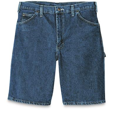 Dickies Men's Denim Carpenter Shorts, Stonewashed Indigo