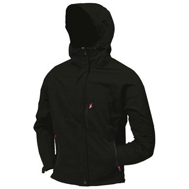 frogg toggs Women's Waterproof ToadRage Jacket, Pink Accents, Black