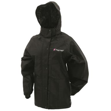 frogg toggs Women's Waterproof Pro Action Jacket, Black
