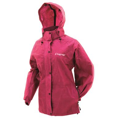 frogg toggs Women's Waterproof Pro Action Jacket, Cherry