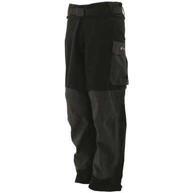 frogg toggs Men's Waterproof Frogg Guide Pants, Black/Charcoal