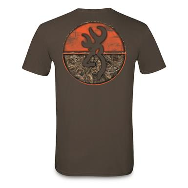 Browning Men's Realtree MAX-5 Circle Short-Sleeve T-Shirt, Dark Chocolate