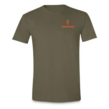 Browning Men's Realtree MAX-5 Circle Short-Sleeve T-Shirt, Military Green