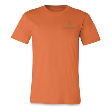 Browning Men's Antler Buckmark Short-Sleeve T-Shirt, Burnt Orange