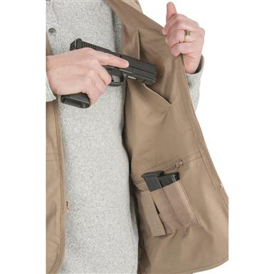 Fits small and large-frame pistols plus mags, Tan