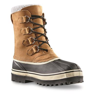 100% waterproof rubber shell protects your feet from ice slush and snow, Tan