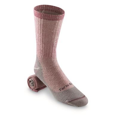 Farm to Feet Women's Boulder Medium Weight Socks, Berry