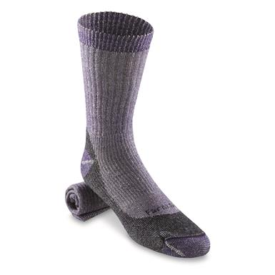 Farm to Feet Women's Boulder Medium Weight Socks, Parachute Purple