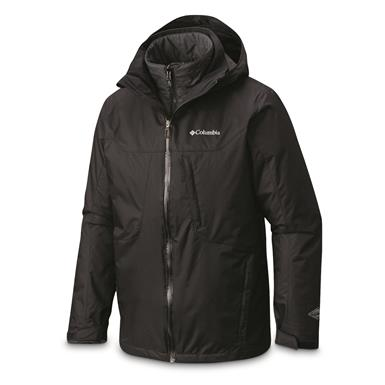 Columbia Men's Whirlibird Insulated Waterproof Interchange Jacket, Black