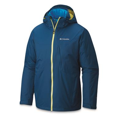 Columbia Men's Whirlibird Insulated Waterproof Interchange Jacket, Phoenix Blue