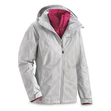 Columbia Women's Whirlibird Insulated Waterproof Interchange Jacket, Circus Gray