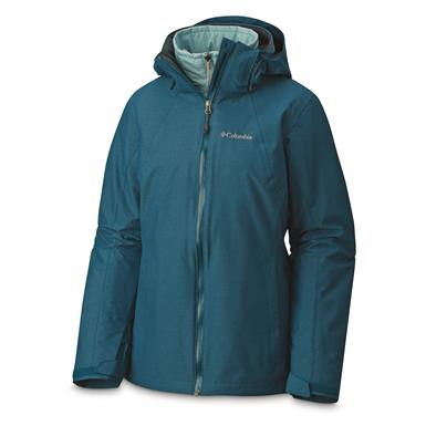 """Columbia Women's Whirlibird Insulated Waterproof Interchange Jacket, Aegean Blue"