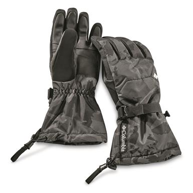 Columbia Men's Whirlibird Waterproof Insulated Gloves, Black Woodsy Camo